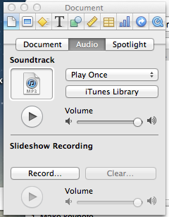 How to time a Keynote Presentation to a music soundtrack - Macintosh