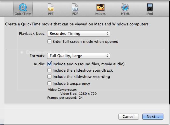 How to time a Keynote Presentation to a music soundtrack - Macintosh