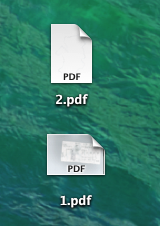 Here are two pdf files on my desktop that I'd like to merge.
