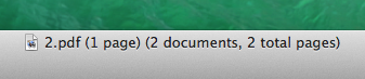 Two pdf documents with 1 page each - they did not merge!