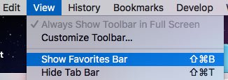 Show Favourites Bar