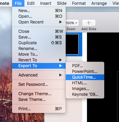 How to loop slides within a keynote presentation - Macintosh