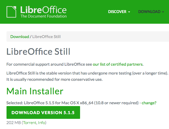 Step 1: download LibreOffice