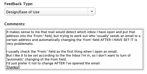 Apple mail changing my 'From:' sender account - Macintosh How To