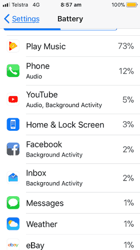 Which Apps Are Draining My Battery In Ios 11 Macintosh How To