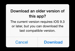 older app can install
