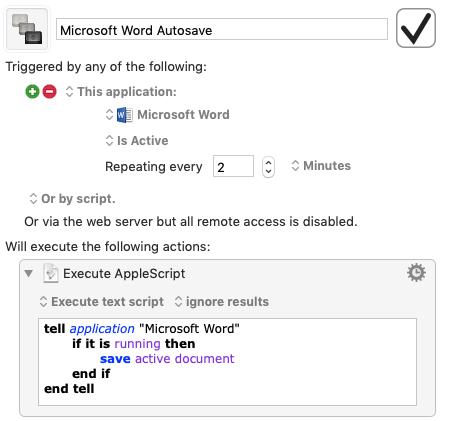 word autosave