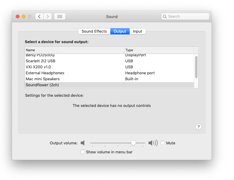 How to adjust the volume of a USB audio device in OSX